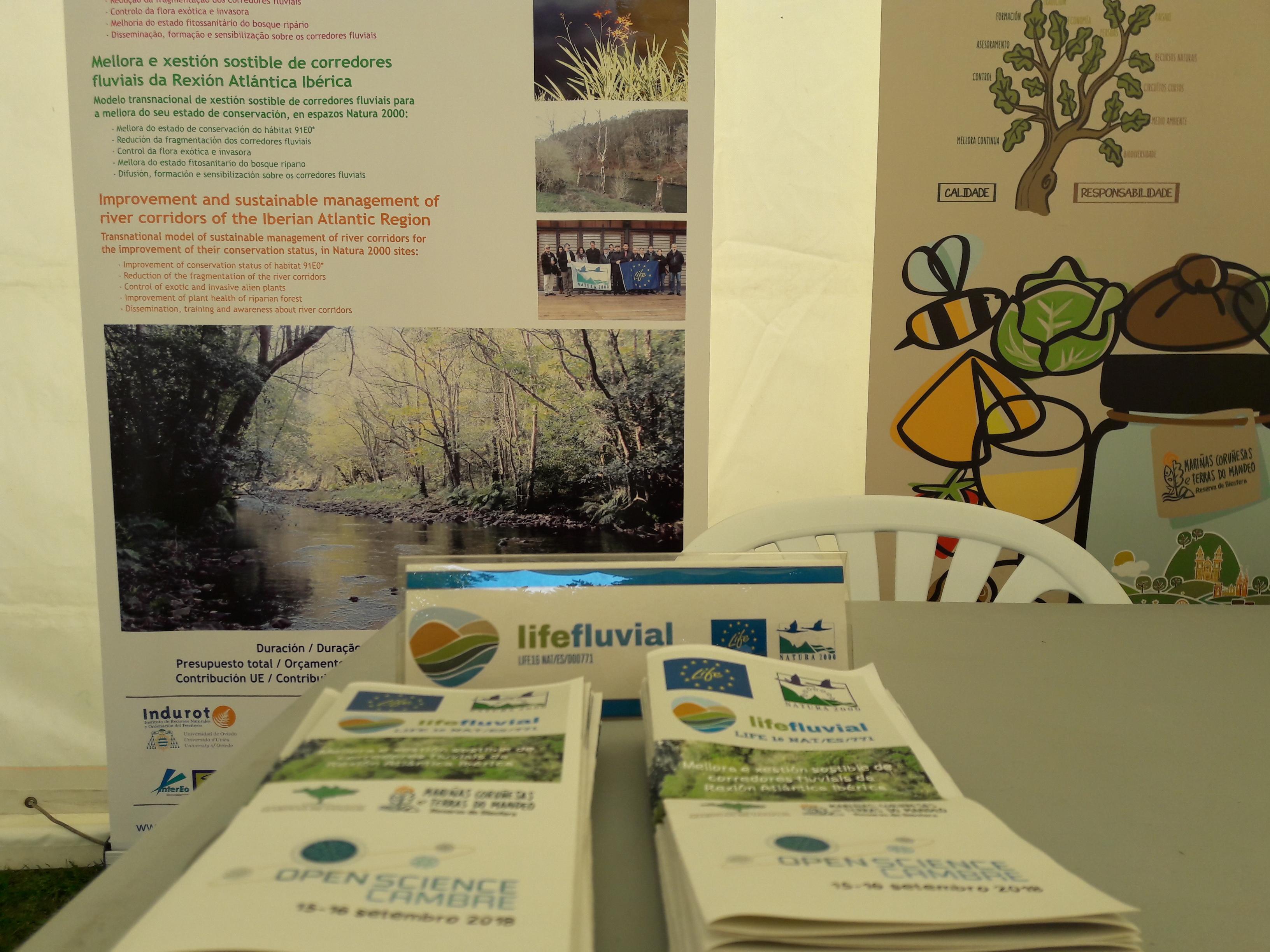 """Participación del proyecto LIFE Fluvial en el """"Open Science de Cambre"""""""