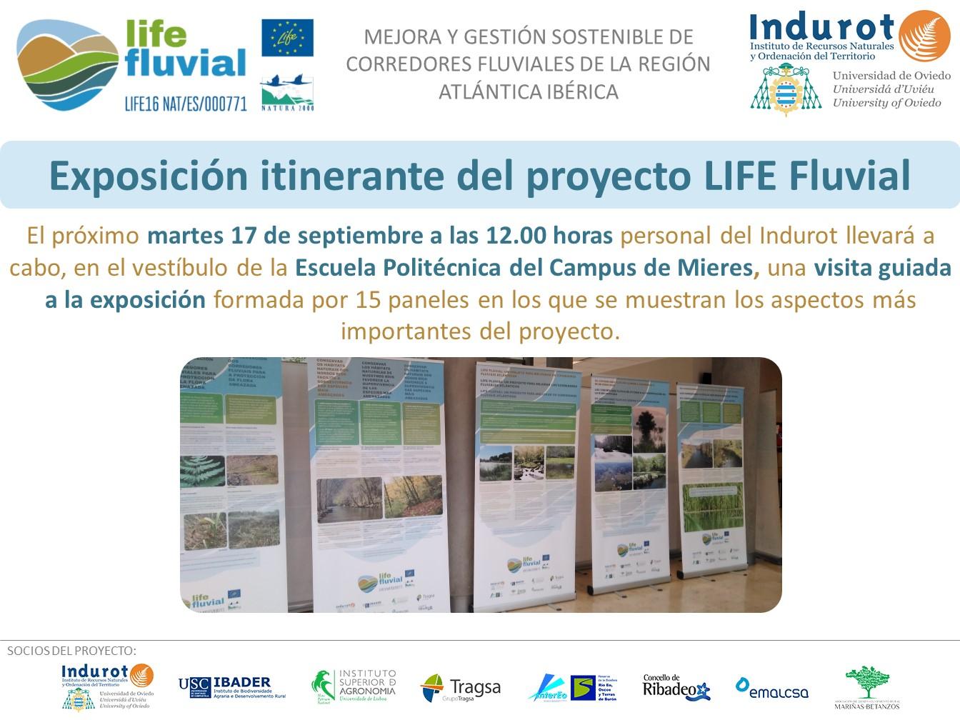Visita guiada a la exposición itinerante del proyecto LIFE Fluvial en Mieres