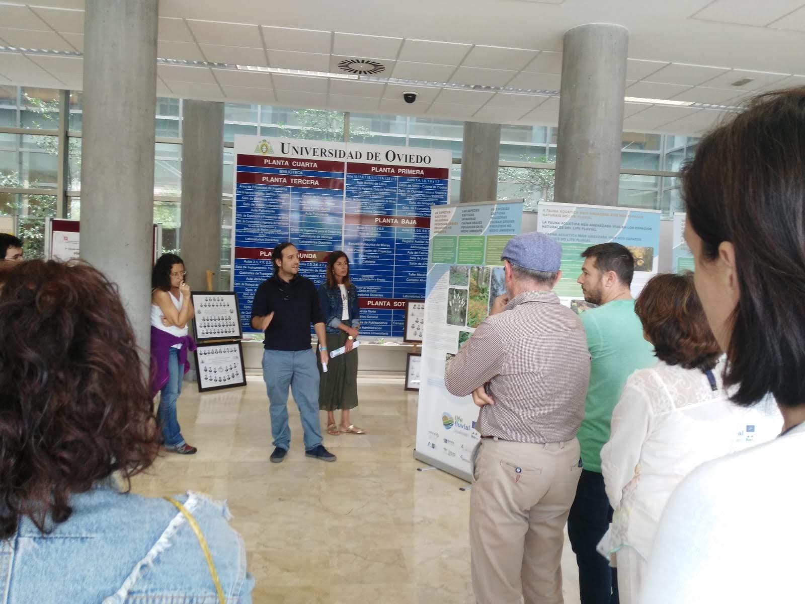 Finaliza la exposición itinerante del proyecto LIFE Fluvial en el Campus de Mieres