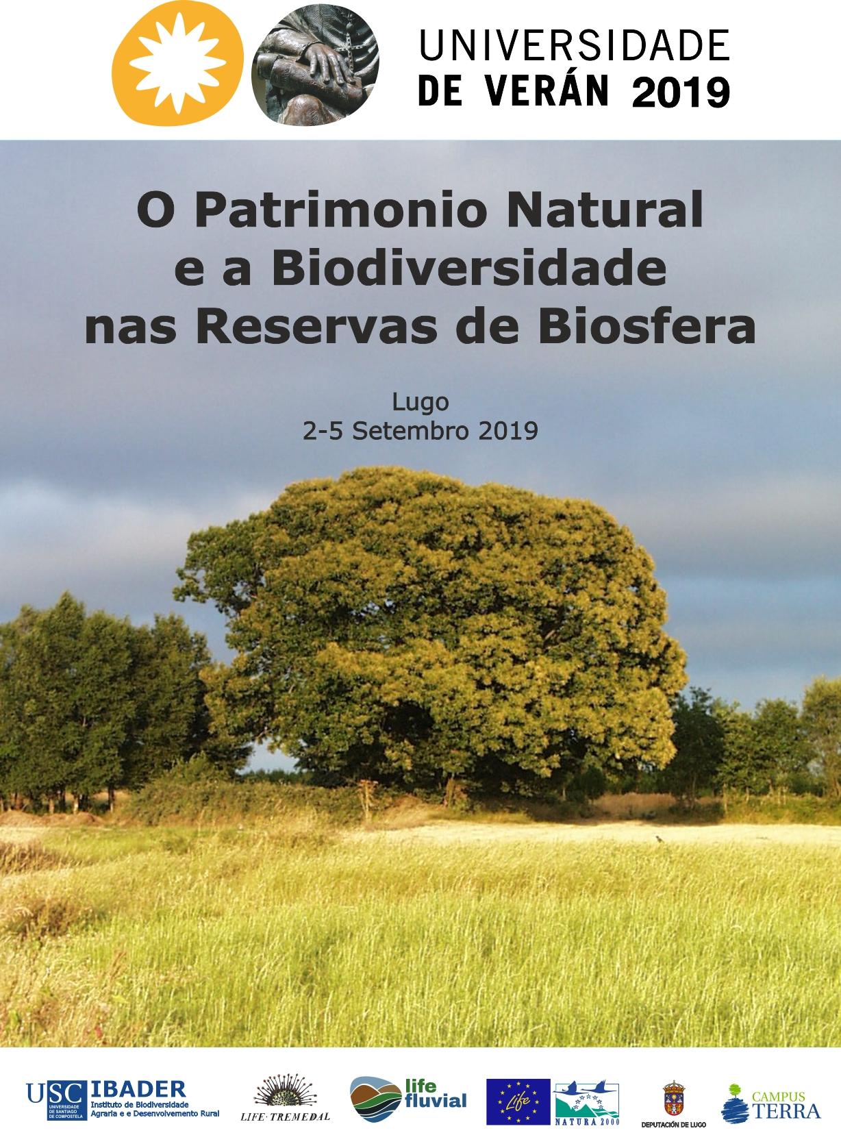 """Curso de Verán """"O PATRIMONIO NATURAL E A BIODIVERSIDADE NAS RESERVAS DE BIOSFERA""""."""