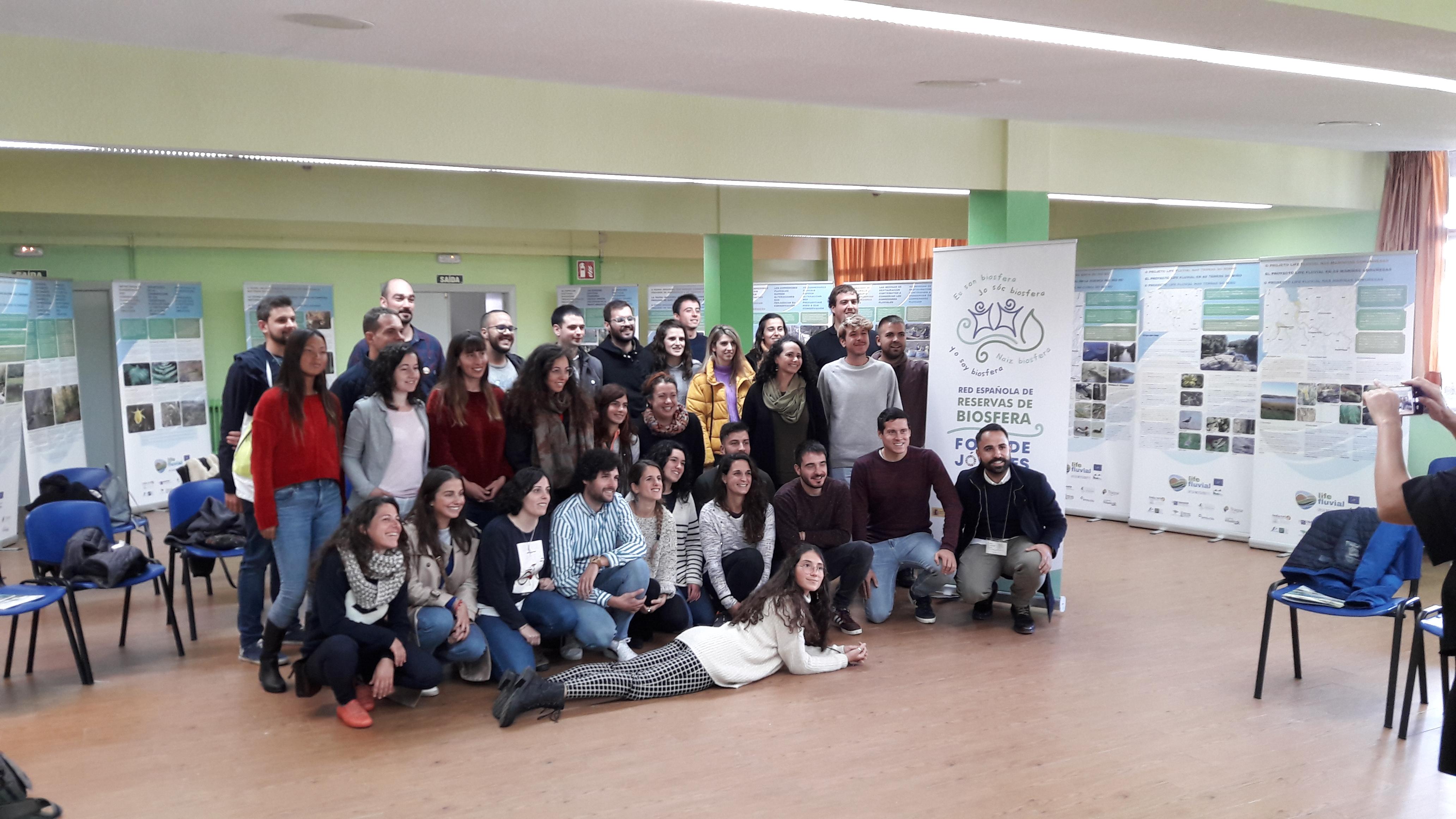 Presentación de la exposición itinerante LIFE Fluvial en el Foro MaB de Jóvenes en la Red Española de Reservas de Biosfera