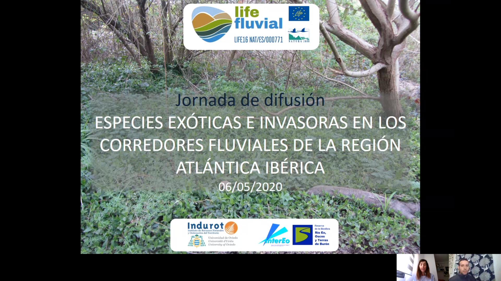 SEMINARIO WEB: LAS ESPECIES EXÓTICAS INVASORAS EN LOS CORREDORES FLUVIALES DE LA REGIÓN ATLÁNTICA IBÉRICA.