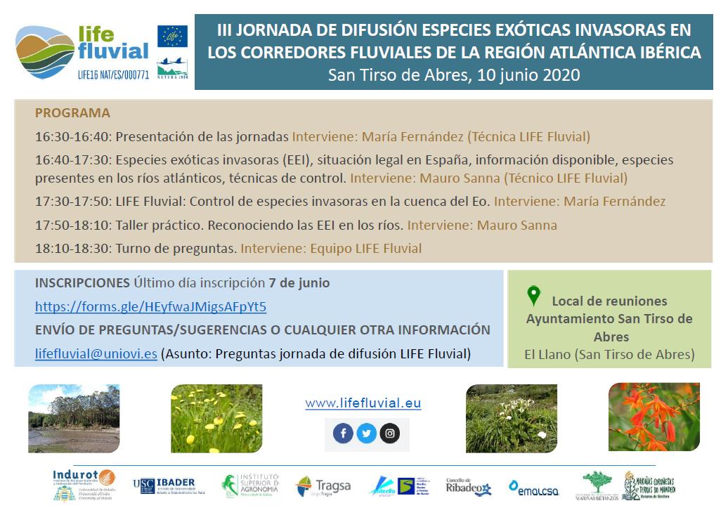 Jornada de difusión especializada sobre Especies Exóticas Invasoras - San Tirso de Abres @ San Tirso de Abres