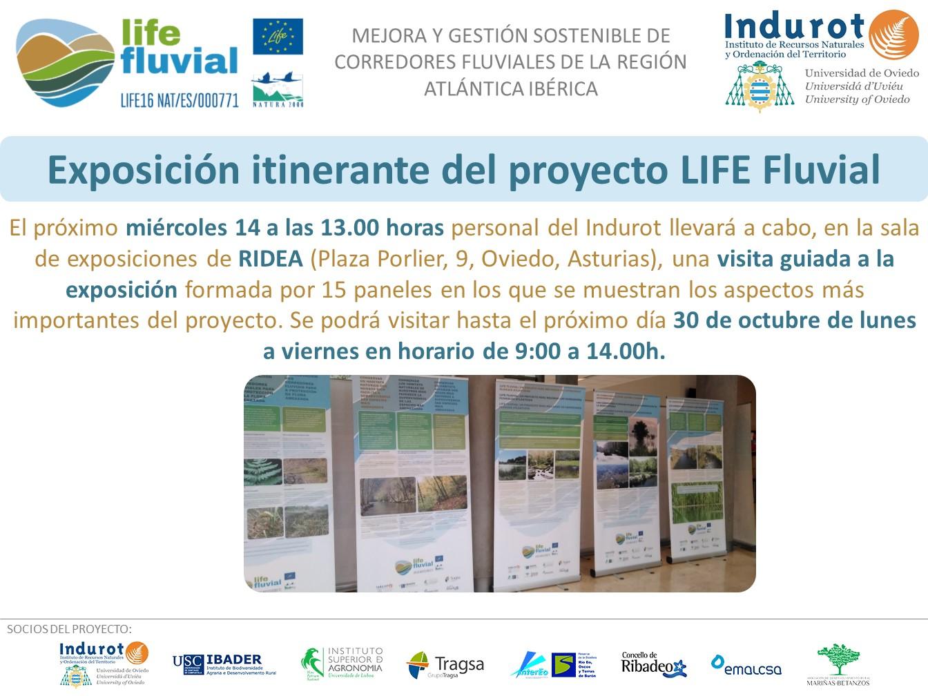 Exposición itinerante del LIFE Fluvial en el RIDEA (Oviedo)