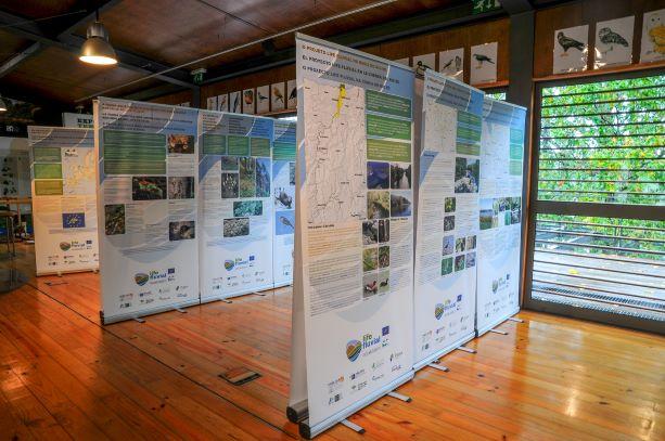 Exposição do projeto LIFE FLUVIAL no Centro de Interpretação Ambiental das Lagoas de Bertiandos e São Pedro d'Arcos (Ponte de Lima)