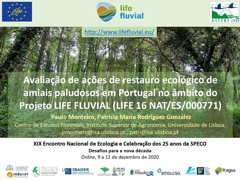 Participação do projeto LIFE FLUVIAL no XIX Encontro Nacional de Ecologia e Celebração dos 25 anos da SPECO