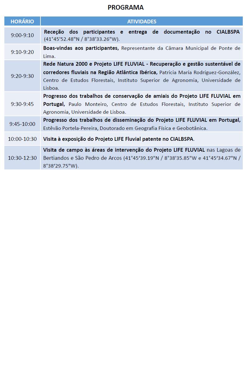 II Reunião com Stakeholders @ Centro de Interpretação Ambiental de Lagoas de Bertiandos e São Pedro de Arcos (CIALBSPA)